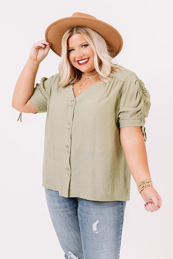 Out West Shift Top In Sage