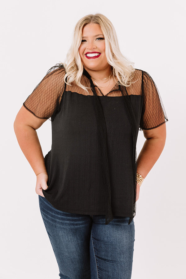 Stole The Show Shift Top In Black