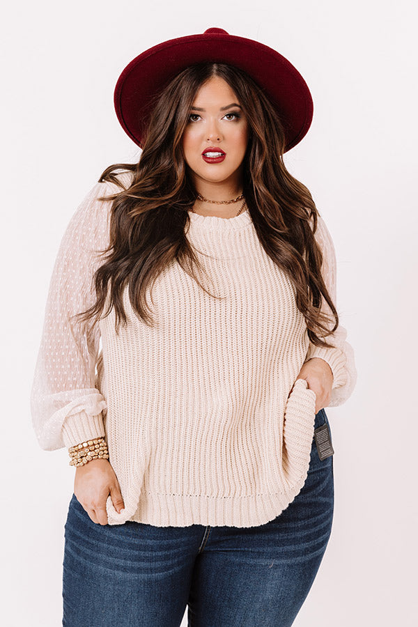 Crisp And Cool Knit Sweater In Cream