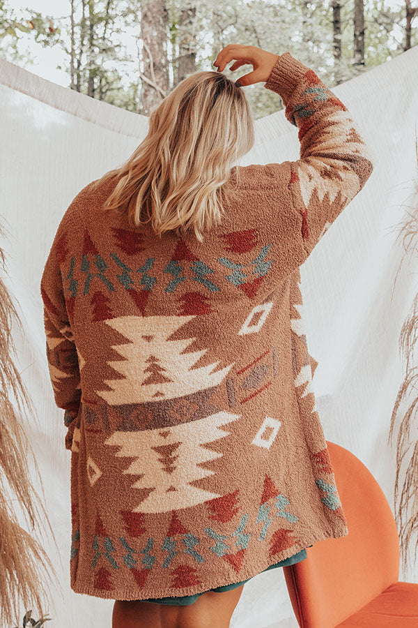 Lost In The Adirondacks Cardigan In Mocha
