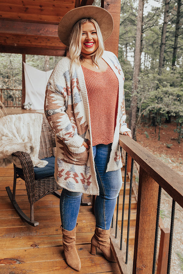 Lost In The Adirondacks Cardigan In Ivory