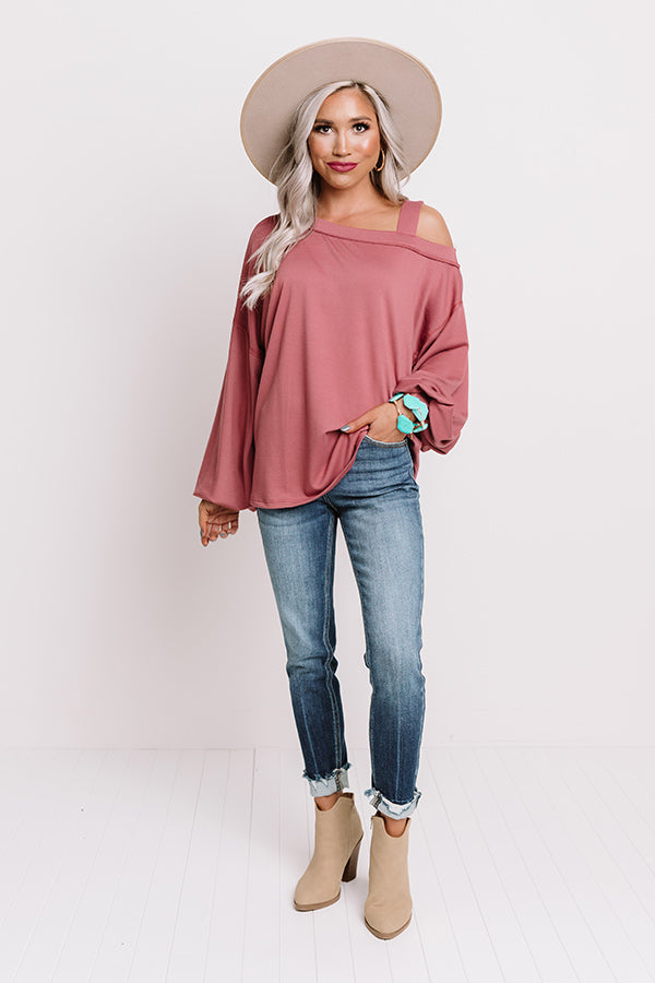 Fan Of Fall Shift Sweater In Blush