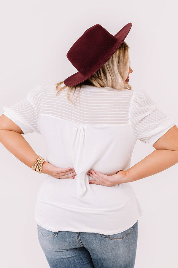 Lost In Daydreams Shift Top In White