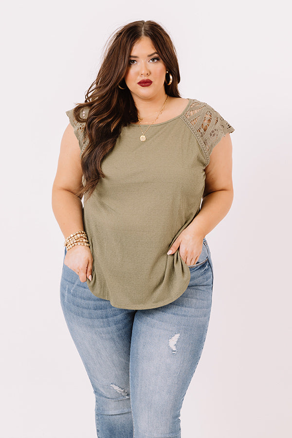 Secret Path Shift Top In Sage