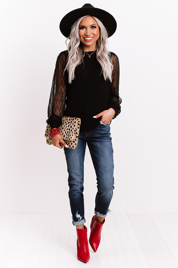 Crisp And Cool Knit Sweater In Black