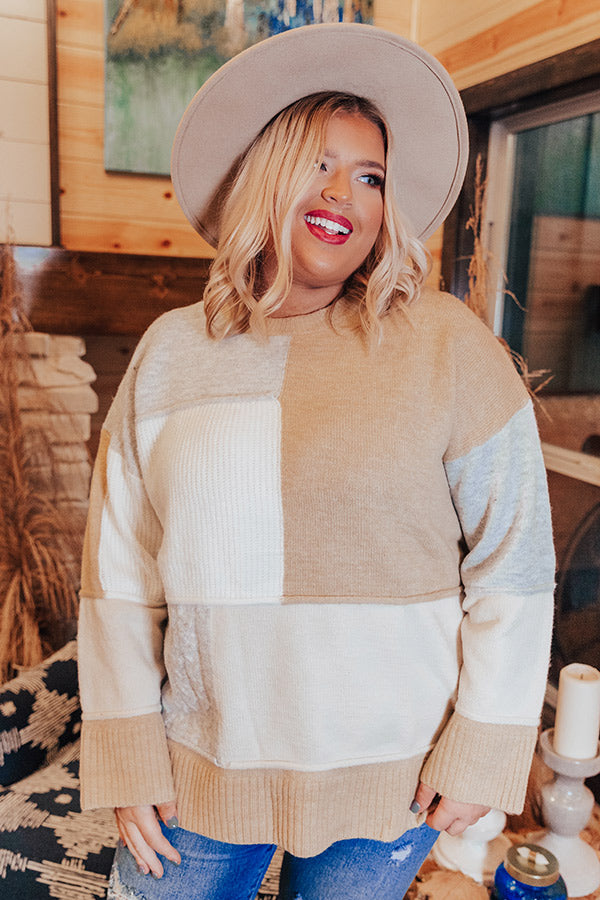 Never Too Cozy Colorblock Sweater