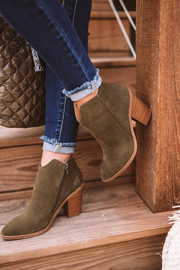 The Kasie Bootie In Dark Olive