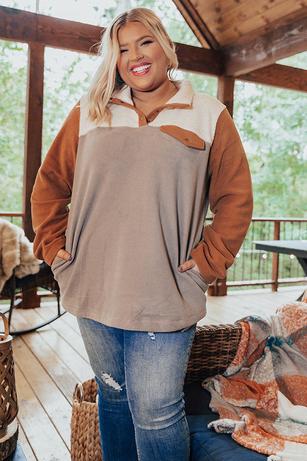 Cabins And Cozy Pullover In Grey