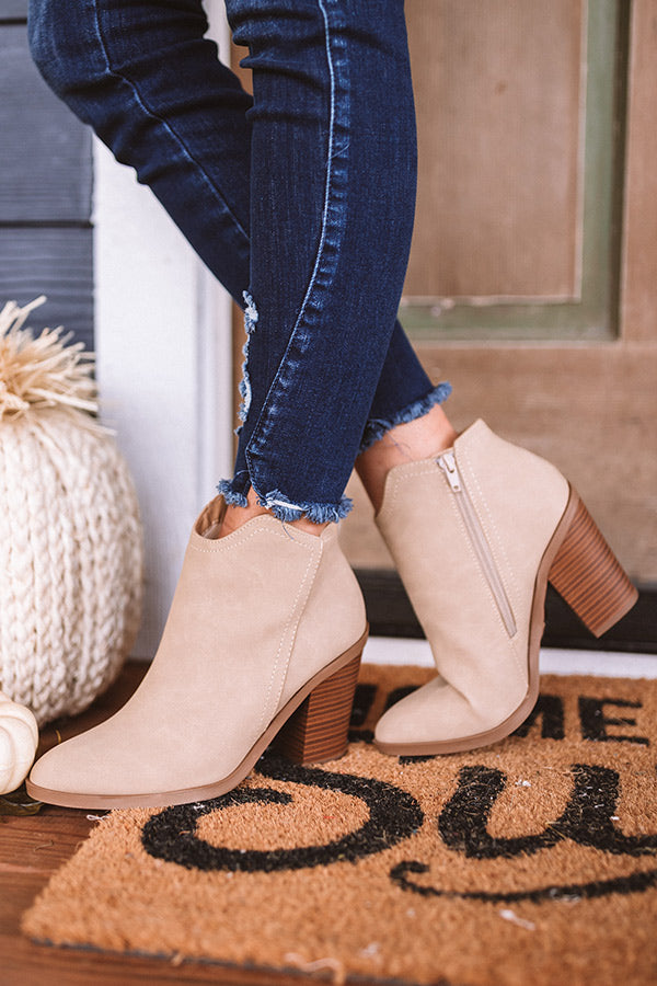 The Kasie Bootie In Beige