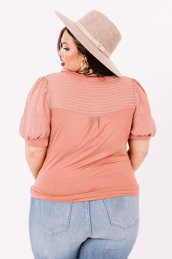 Lost In Daydreams Shift Top In Light Rust