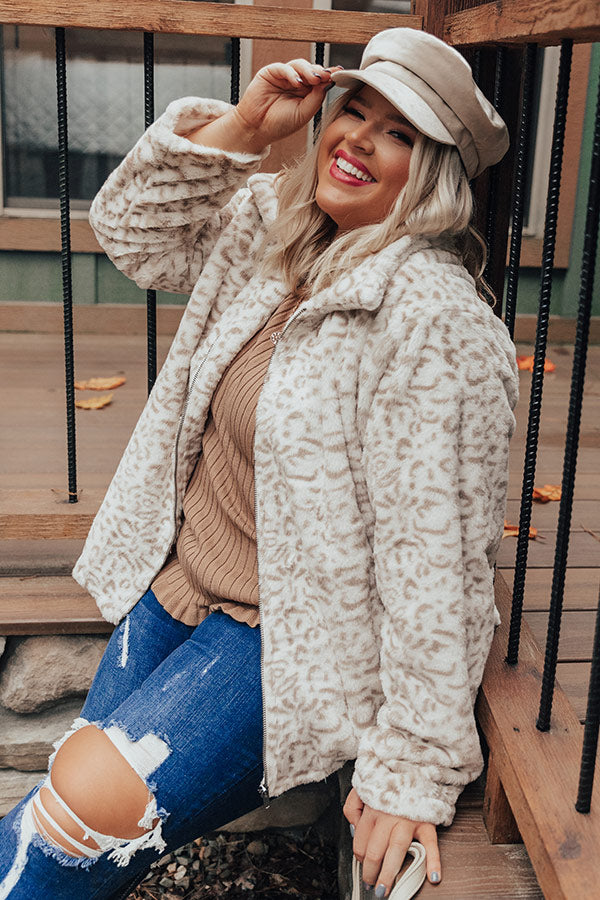 Fireside Cozy Leopard Plush Jacket