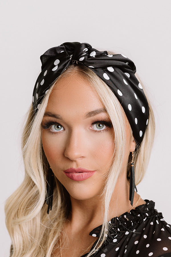 Off The Clock Polka Dot Hair Scarf