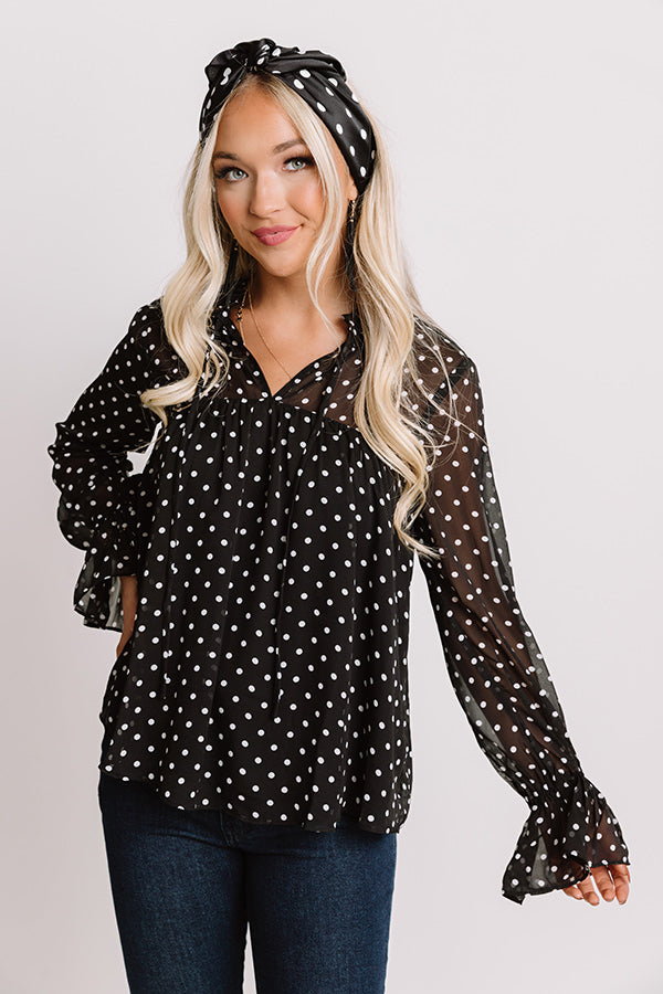 Top Of The Class Shift Top In Black