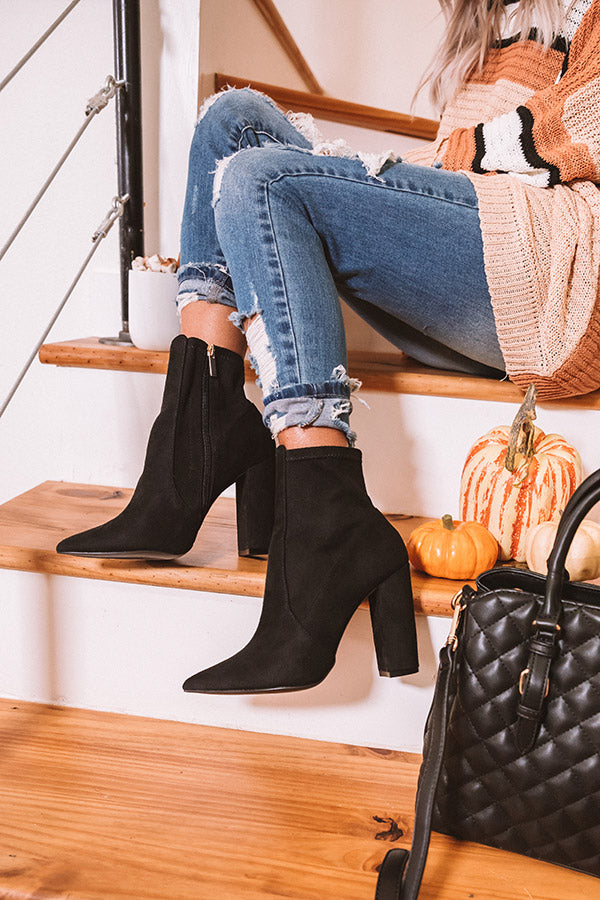 The Amara Faux Suede Ankle Bootie