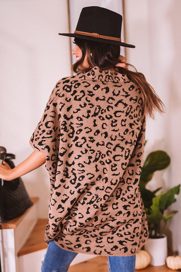 Melted Marshmallows Leopard Cardigan