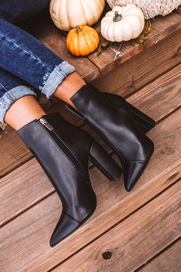The Maia Faux Leather Ankle Bootie