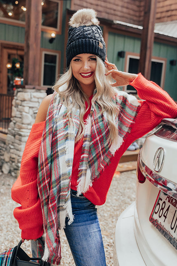 New Seasons Plaid Blanket Scarf