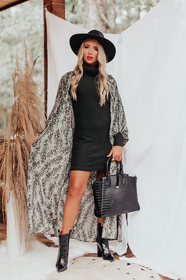 Hey Pumpkin Sweater Dress In Army Green