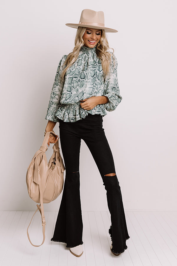 Wildly Stylish Snake Print Top