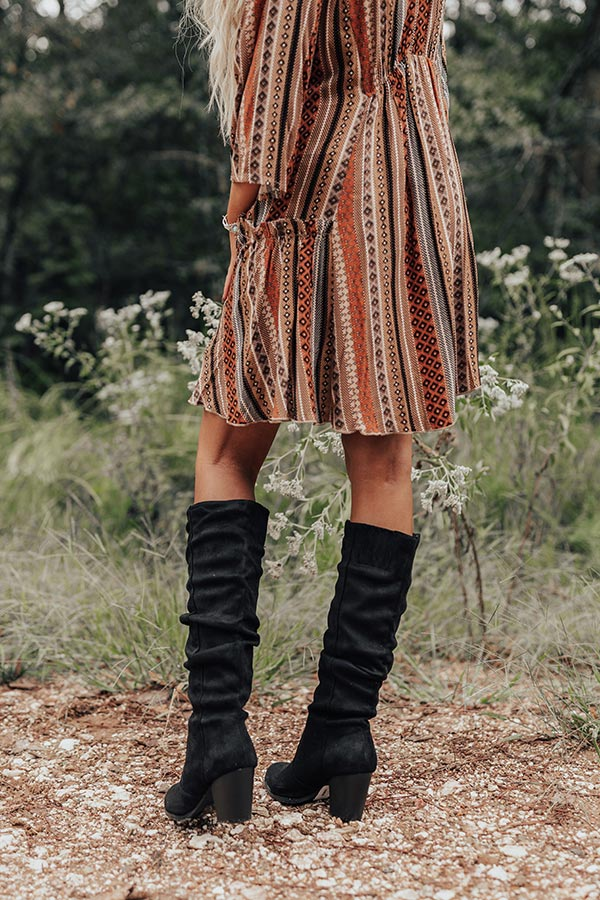 The Finch Knee High Boot In Black