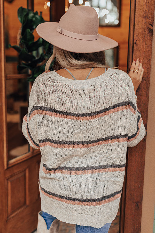 Pumpkin Spice Delight Knit Sweater In Birch