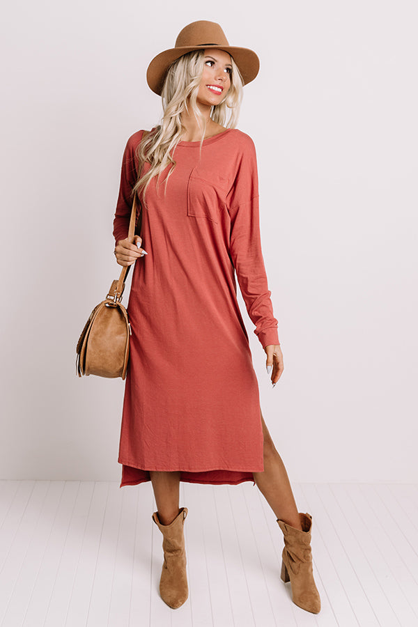 Berkshires Brunch Midi In Aurora Red