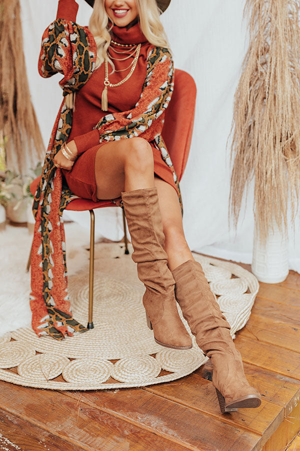 The Finch Knee High Boot In Mocha