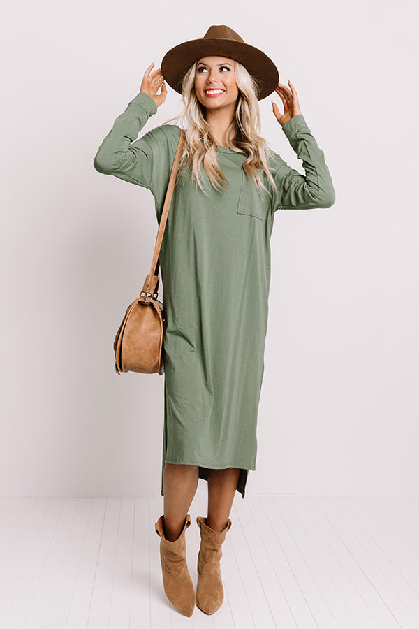 Berkshires Brunch Midi In Olive