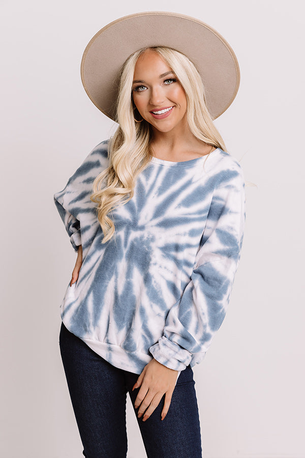 Comfort Zone Tie Dye Sweatshirt In Blue