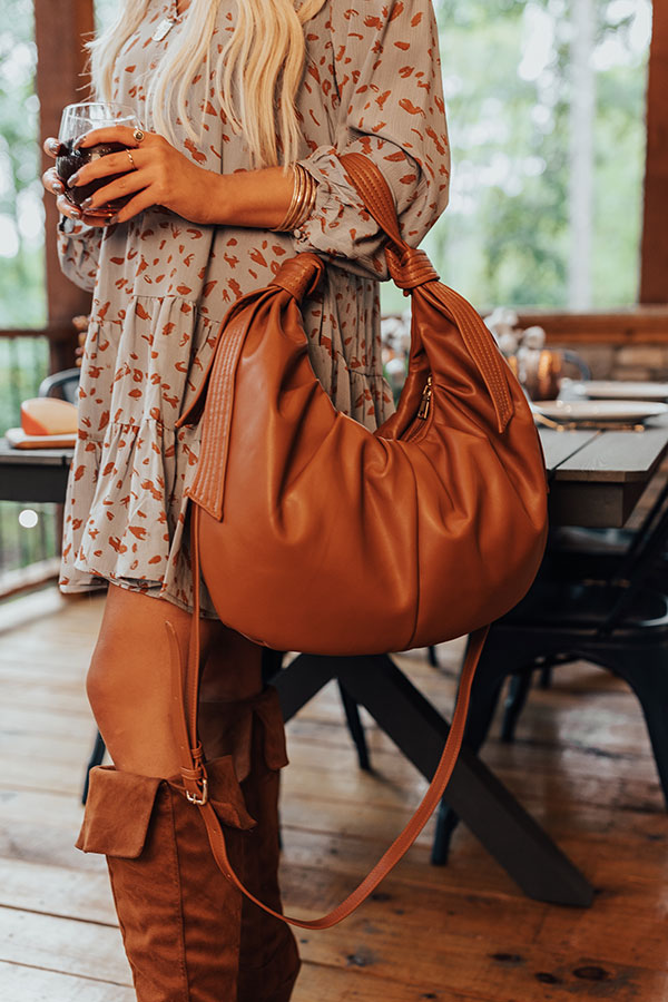 Big Cedar Weekend Faux Leather Tote In Maple