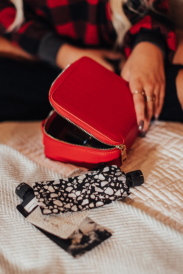 Glowing Review Cosmetic Bag In Red