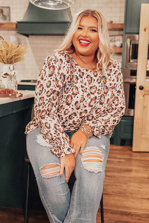 Party For Two Leopard Shift Top