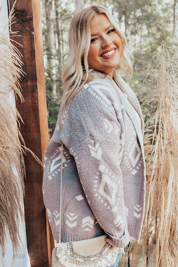 Campfires And Friends Cardigan In Grey