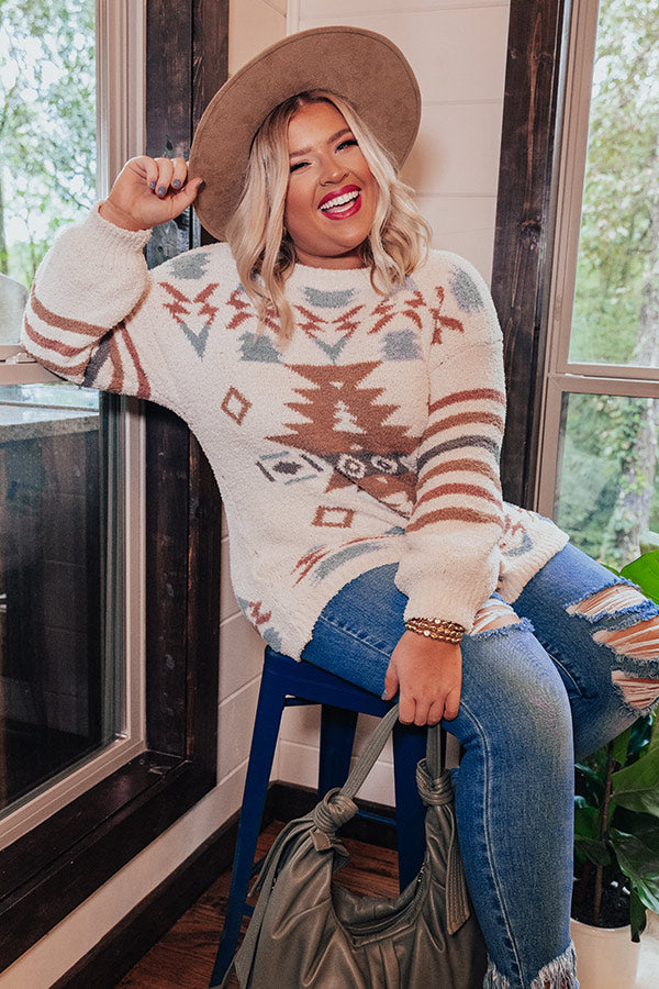 Lost In The Adirondacks Sweater In Ivory