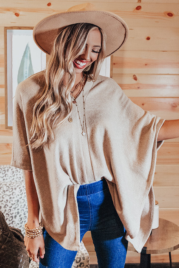 Cuddles At The Lodge Shift Tunic In Khaki