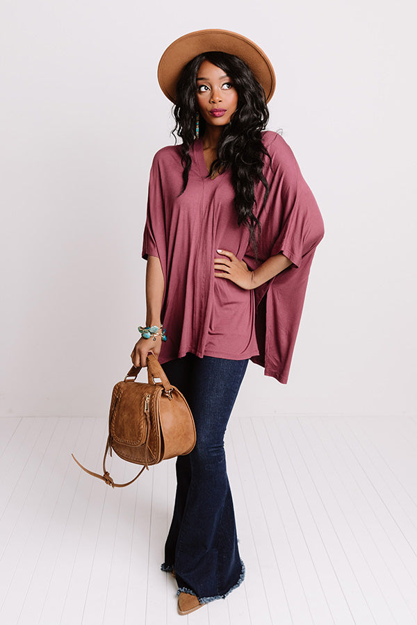 Kisses By Midnight Shift Tunic In Dark Rustic Rose
