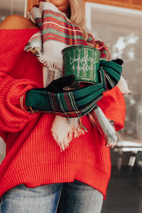 Winter Thrills Plaid Tech Gloves In Green