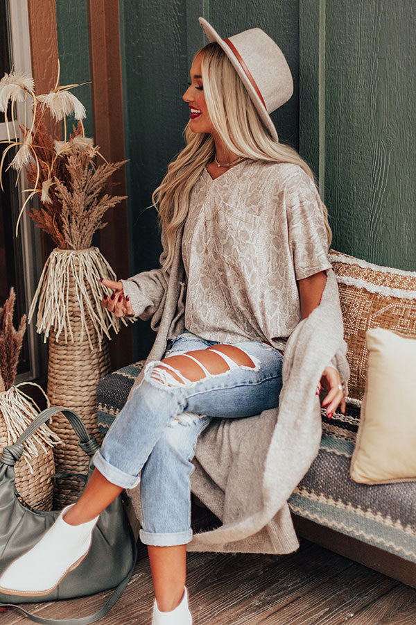 Chic Basics Snake Print Shift Tee