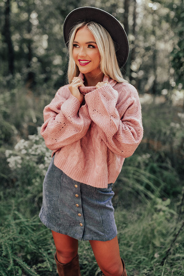 Cozy Mindset Sweater In Blush