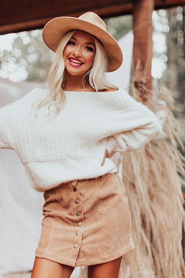 Snuggle Up Buttercup Knit Sweater In Ivory