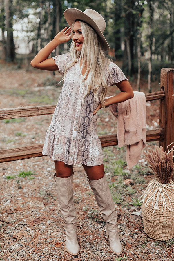 Major Babe Snake Print Shift Dress
