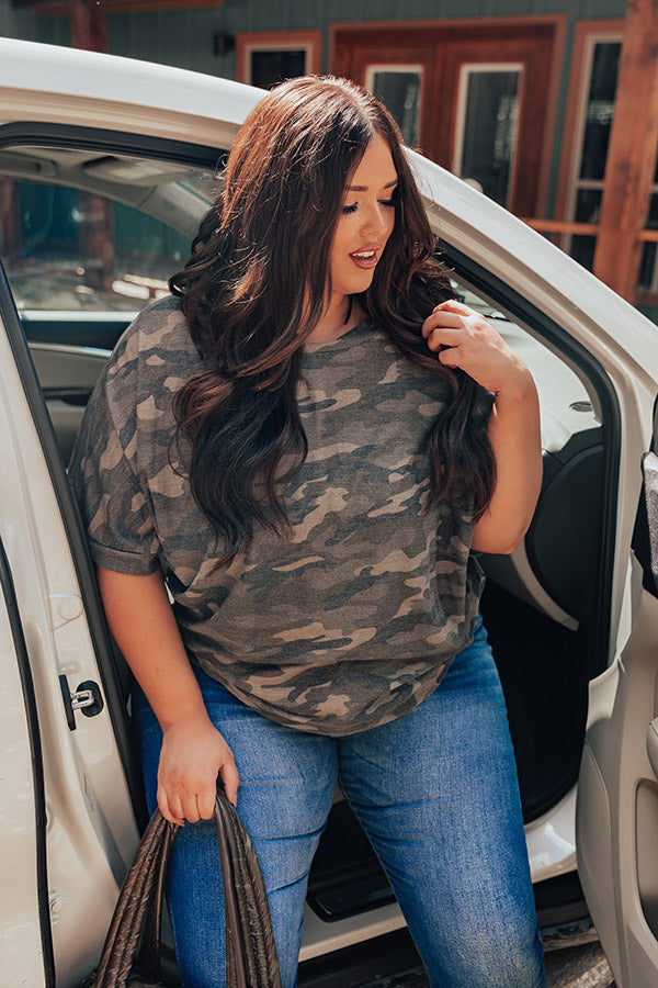 Out In Nature Camo Shift Top