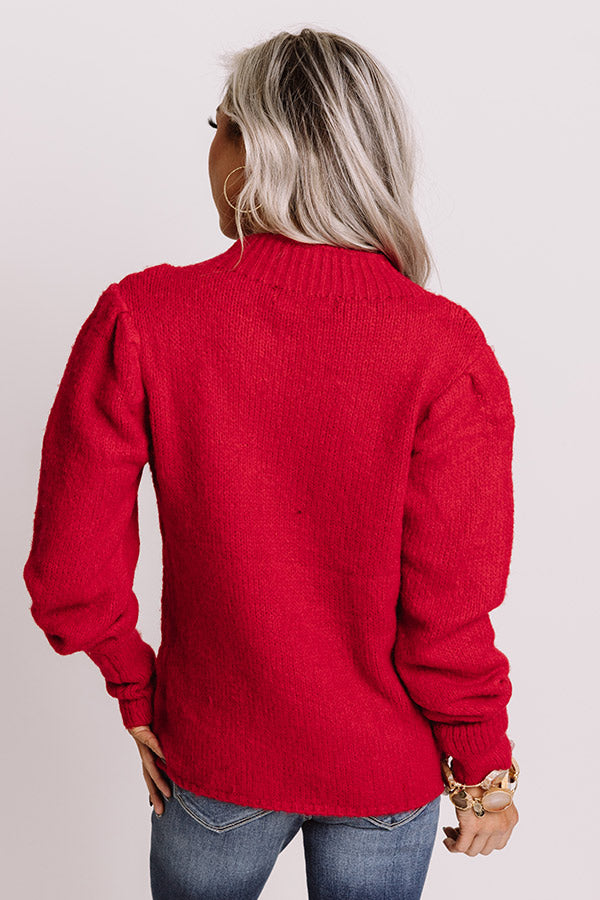 Spice Life Sweater in Red