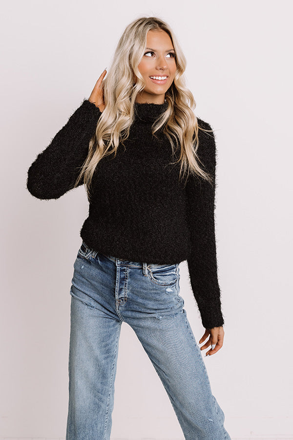 Pumpkins And Cozy Knit Sweater In Black