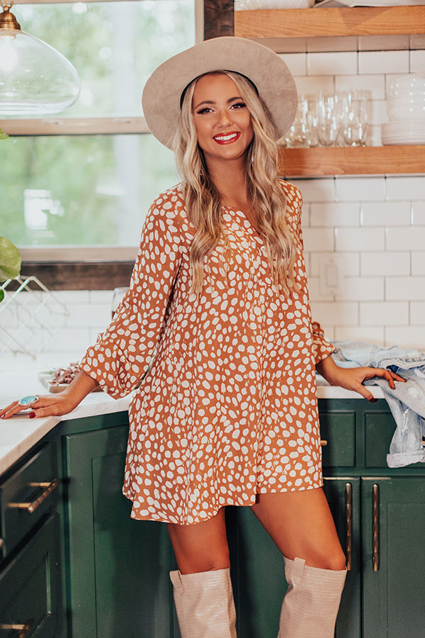 Flirty Babe Tunic Dress in Camel