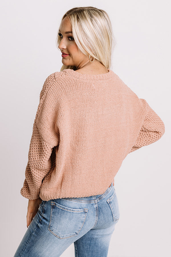 Cider Snuggles Knit Sweater In Latte