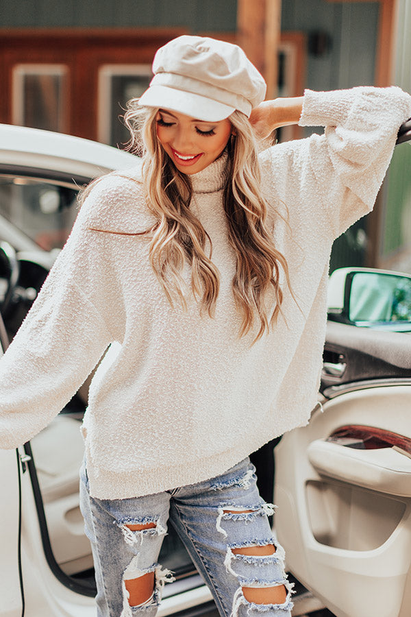 Close To The City Shift Sweater in Cream