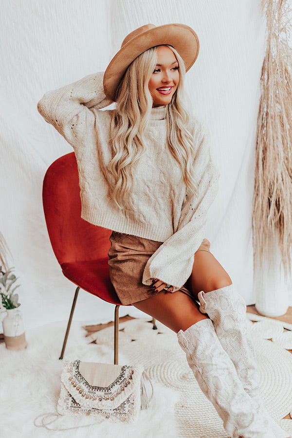 Cozy Mindset Sweater In Light Beige