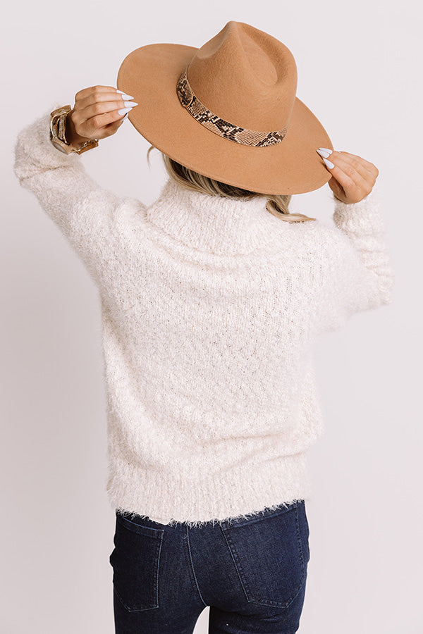 Pumpkins And Cozy Knit Sweater In Cream