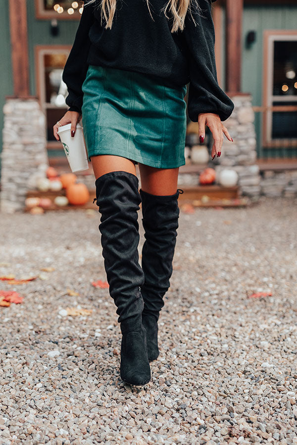 The Ellorie Faux Suede Thigh High Boot